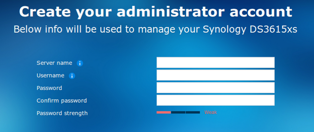 Fig. 5: Create admin account