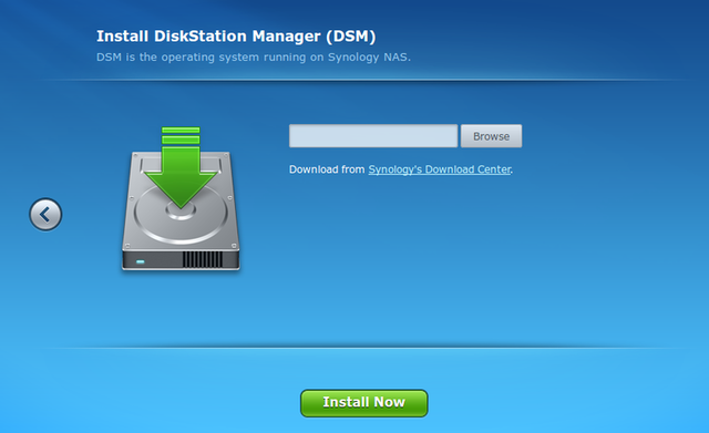 Fig. 2: Installation of DSM in Web UI