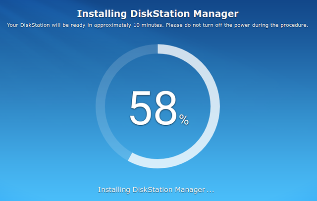 Fig. 3: Installation of DSM in Web UI
